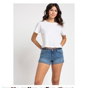 "Celebrity Pink ""The Honey""Mid Rise Jean Shorts"